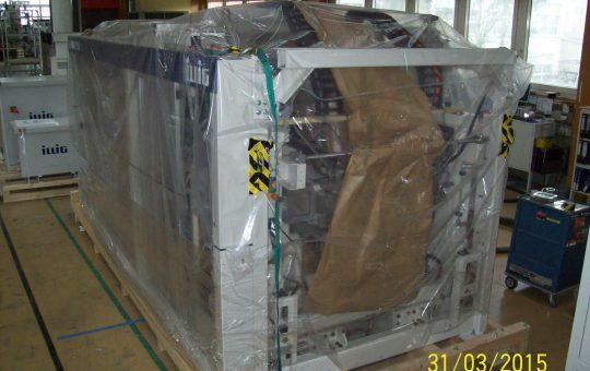 Luftfracht Versand einer Thermoformmaschine RDM75K nach Tokyo