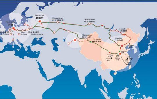 Bahntransporte von und nach China